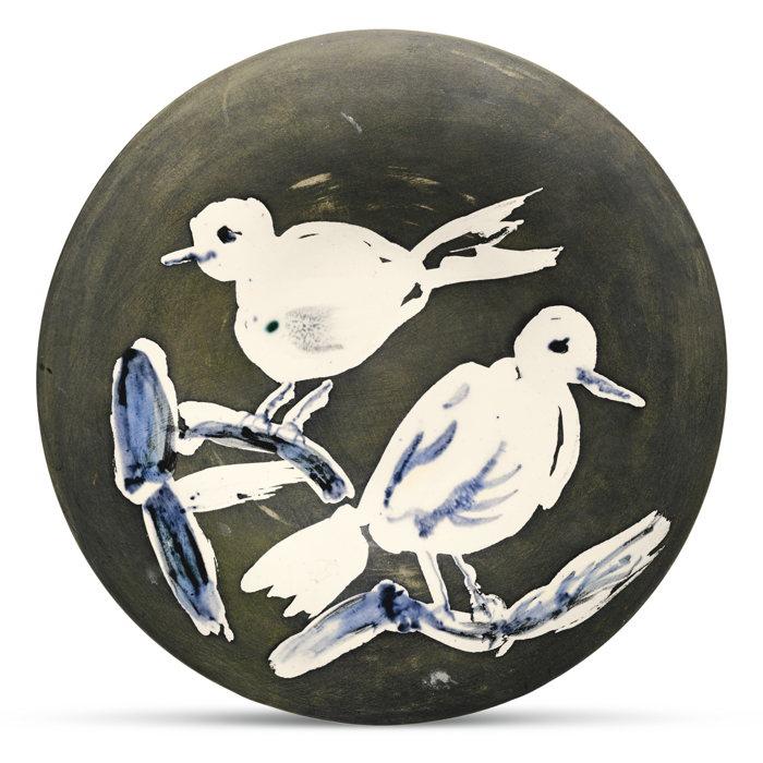 Pablo Picasso-Deux Oiseaux No. 95 (A. R. 487)-1963