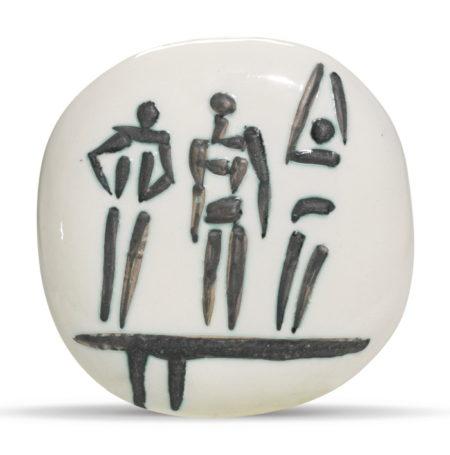 Pablo Picasso-Trois Personnages Sur Tremplin (A. R. 375)-1956