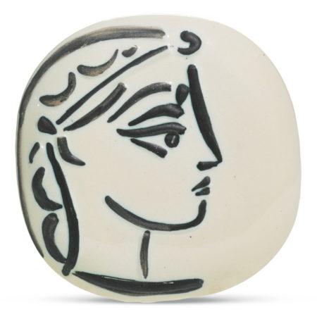 Pablo Picasso-Profil De Jacqueline (A. R. 383)-1956