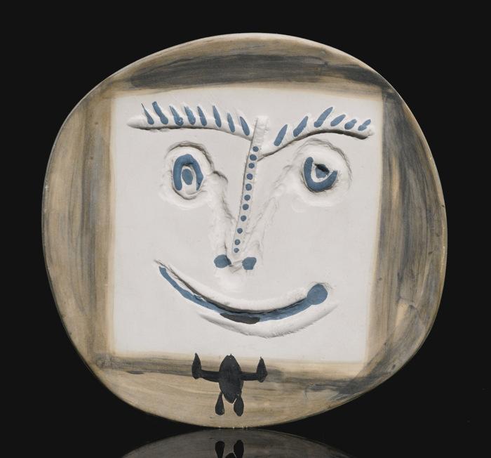 Pablo Picasso-Visage A La Cravate (A. R. 450)-1960