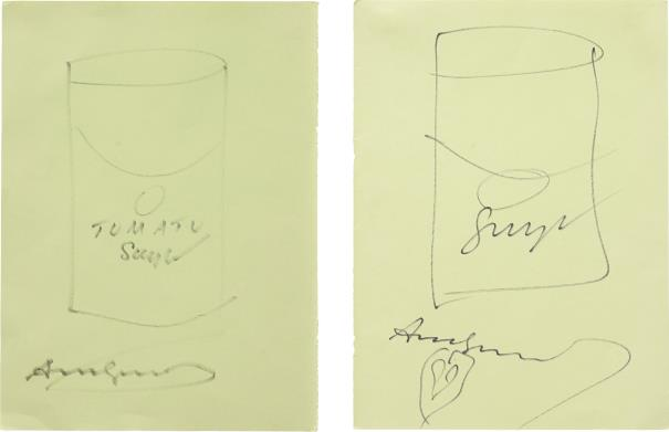 Andy Warhol-Two Works: (I) Untitled (Tomato Soup); (Ii) Untitled (Soups)-1980