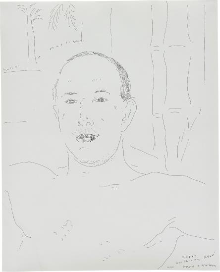 David Hockney-Nathan In Mustique-