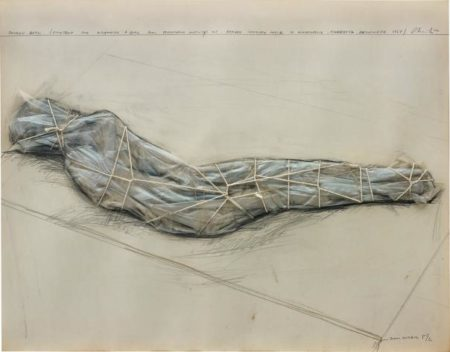 Christo and Jeanne-Claude-Packed Girl (Project For Wrapping A Girl For Temporary Activity At Gordon Loksley House In Minneapolis, Minnesota)-1967