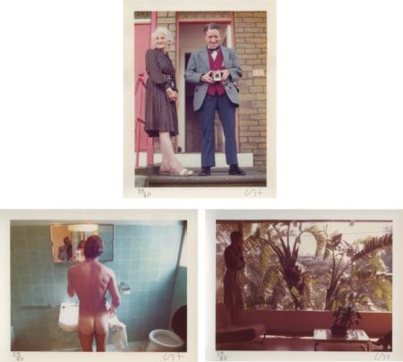 David Hockney-Three Works: (I) My Parents, Bradford, 1975; (II) Peter Washing, Belgrade, 1970; (III) Hollywood Window-1973