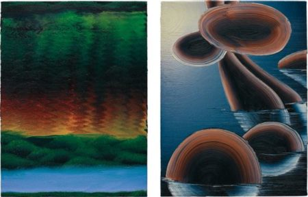 Christian Ward-Two Works: (I) Two Studies (A Rainbow River); (II) Two Studies (Floating Rocks)-2006