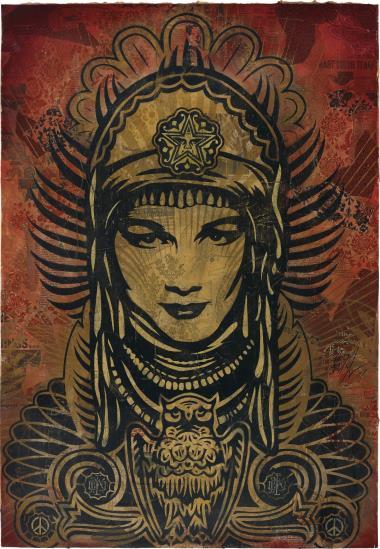 Shepard Fairey-Peace Goddess-2007