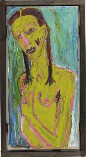 Billy Childish-Girl Holding Breast-2005