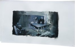 Adrian Ghenie-Study For The Trial-2010