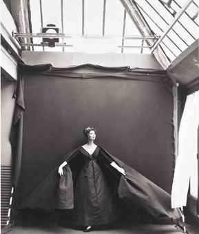 Richard Avedon-Suzy Parker, evening dress by Dior, Paris studio-1956
