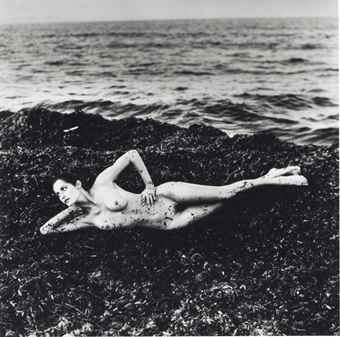 Helmut Newton-Nude in Seaweed, Saint-Tropez, from Private Property, Suite I-1976
