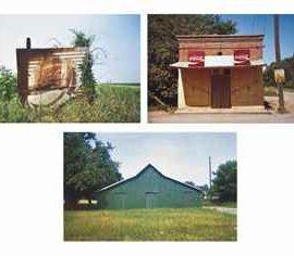 William Christenberry-Green Warehouse, Newbern, Alabama, 1973; The Bar-B-Q, Greensboro, Alabama, 1977; and Pepsi Cola Sign in Landscape, Near Uniontown, Alabama-1978