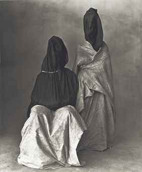 Irving Penn-Two Guedras, Morocco-1972