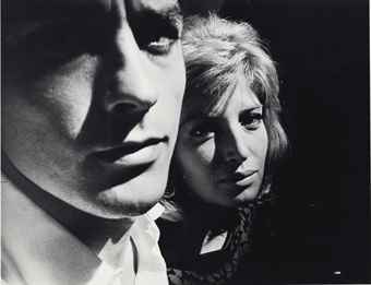 Robert Frank-Alain Delon and Monica Vitti-1964