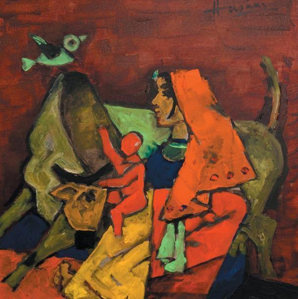 Maqbool Fida Husain-Untitled-2009