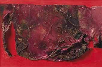 Alberto Burri-Rosso plastica (Red plastic)-1961