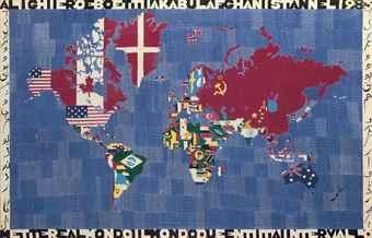 Alighiero Boetti-Mappa (Map)-1983