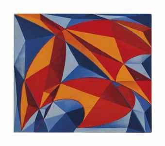 Giacomo Balla-Complesso colorato di frastuono + velocita (Coloured complex of din + velocity)-1914