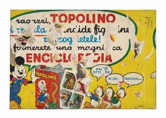 Mimmo Rotella-Topolino (Mickey mouse)-1959