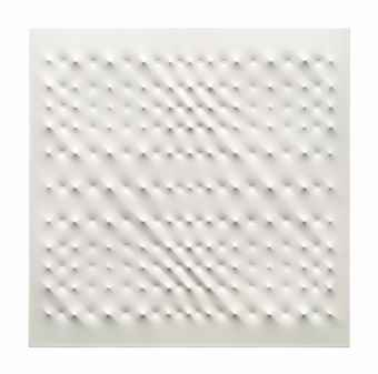 Enrico Castellani-Superficie bianca (White surface)-2006
