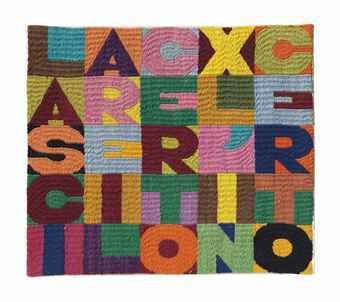 Alighiero Boetti-Lasciare il certo x l'incerto (Leave the certainty x the uncertain)-1987