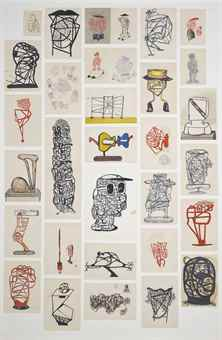 Jakub Julian Ziolkowski-Untitled (Sketches of Sculptures)-2008