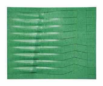 Agostino Bonalumi-Verde (Green)-1987