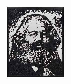 Vik Muniz-Karl Marx (Pictures of Caviar)-2004