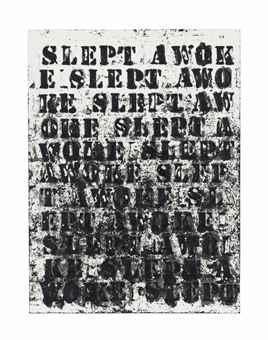 Glenn Ligon-Slept Awoke #2-2008