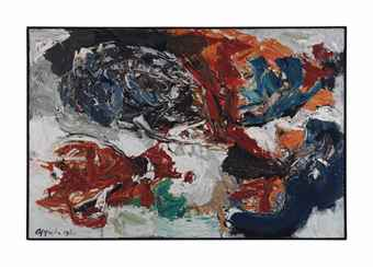 Karel Appel-Tempeste Flambant comme un Insect-1960