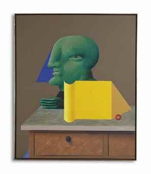 Horst Antes-Stilleben mit Gruner Figur (Still Life with Green Figure)-1972