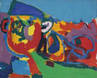 Karel Appel-Paysan Dans le Paysage (Farmer in the Landscape)-1968