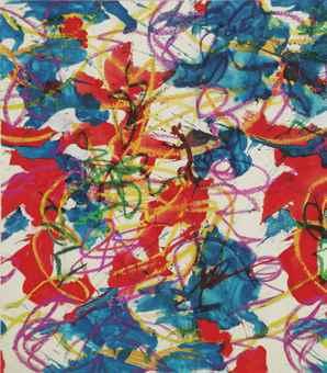 Karel Appel-Untitled (Design for Fabric)-1956