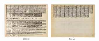 Hanne Darboven-Untitled (recto and verso)-1968