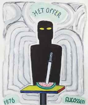 Reinier Lucassen-Het Offer of Compositie (The Sacrifice or Composition)-1977