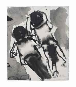 Marlene Dumas-2 Children-1993