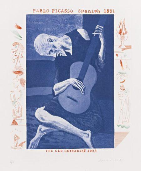 David Hockney-The Blue Guitar (Scottish Arts Council 199-218)-1977