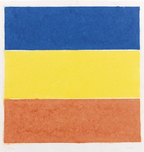 Ellsworth Kelly-Colored Paper Image XVI (Blue/Yellow/Red) (Axsom156)-1976