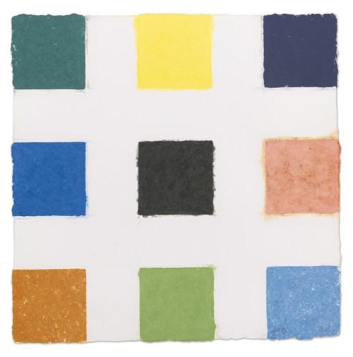 Ellsworth Kelly-Nine Colors (Colored Paper Image XXIII) (A. 163)-1977