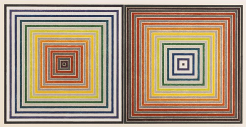 Frank Stella-Double Gray Scramble (Axsom 93)-1973