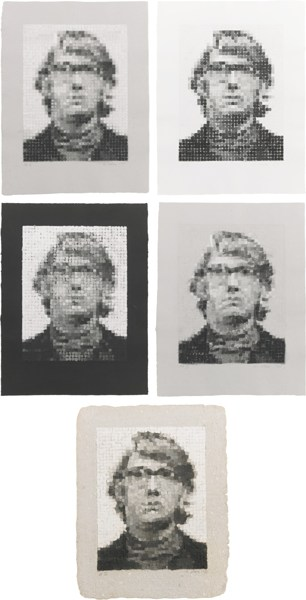 Chuck Close-Keith I-V (Butler Institute 17 - 21)-1981