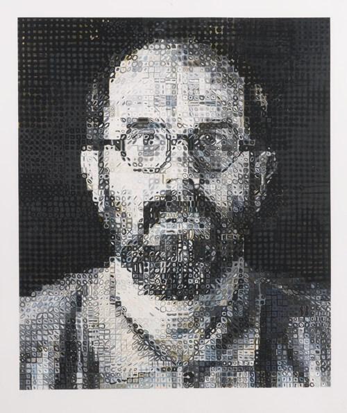 Chuck Close-Self-Portrait-1995