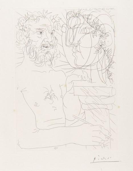 Pablo Picasso-Vieux Sculpteur Au Travail (B. 158; Ba. 311)-1933