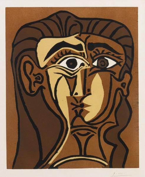 Pablo Picasso-Tete De Femme (B. 1063; Ba. 1280)-1962