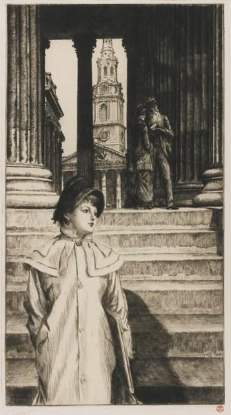 James Jacques Joseph Tissot-Le Portique De La Galerie Nationale A Londres (W. 40)-1878