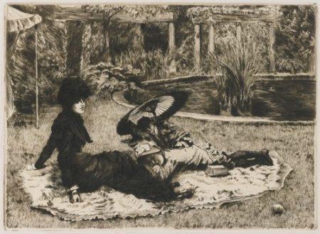 James Jacques Joseph Tissot-Sur L'Herbe (W. 50)-1880