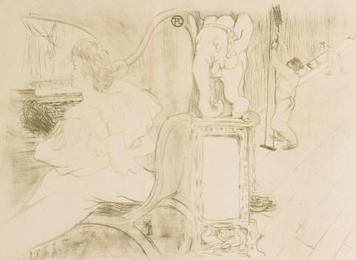 Henri de Toulouse-Lautrec-Couverture De L'Estampe Originale (D. 127, Adr. 129; W. 96)-1895