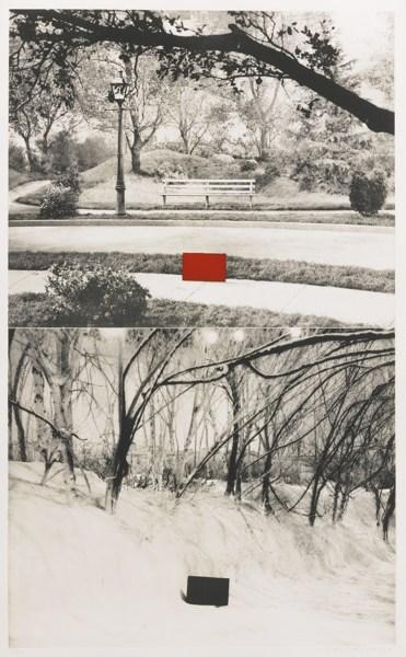 John Baldessari-Two Sets (One With Bench) (Hurowitz 49)-1990