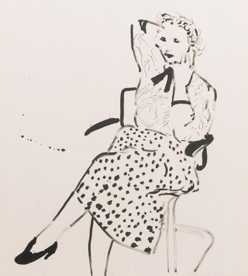 David Hockney-Celia In A Polka Dot Skirt (Gemini 23.66)-1980