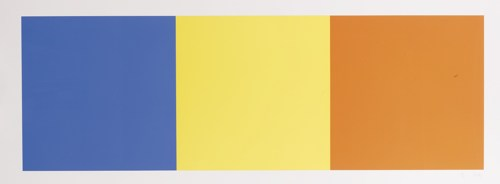 Ellsworth Kelly-Blue Yellow And Red Squares (A.73)-1970