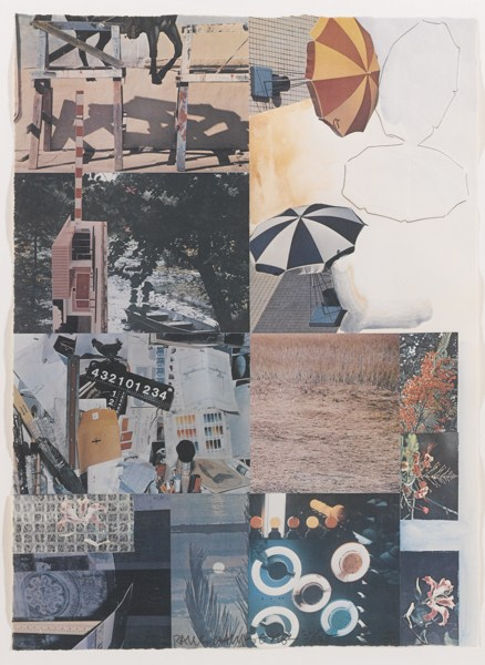 Robert Rauschenberg-Most Distant Visible Part Of The Sea / Umbrellas-1983